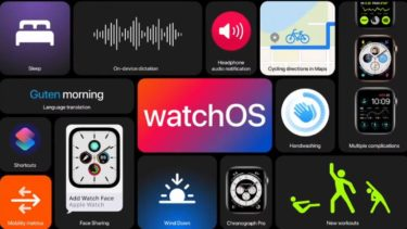 【WWDC 2020】Keynote Apple watchOS7アップルウォッチOS7へ