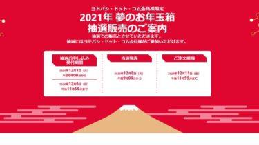 【2021ラッキーバック】ヨドバシカメラ「夢のお年玉箱」抽選が開始!予想のまとめ