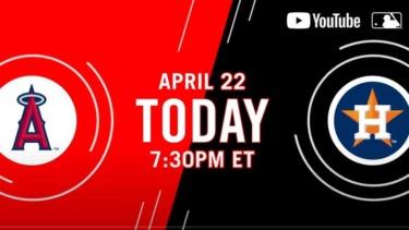 【MLB.TV】メジャーリーグTV YouTube & free Live stream 4月~5月スケジュールリスト