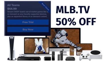 【MLB】マルチデバイス対応でLIVEはテレビ視聴!キャンペーン実施中で年間が50%OFFに!